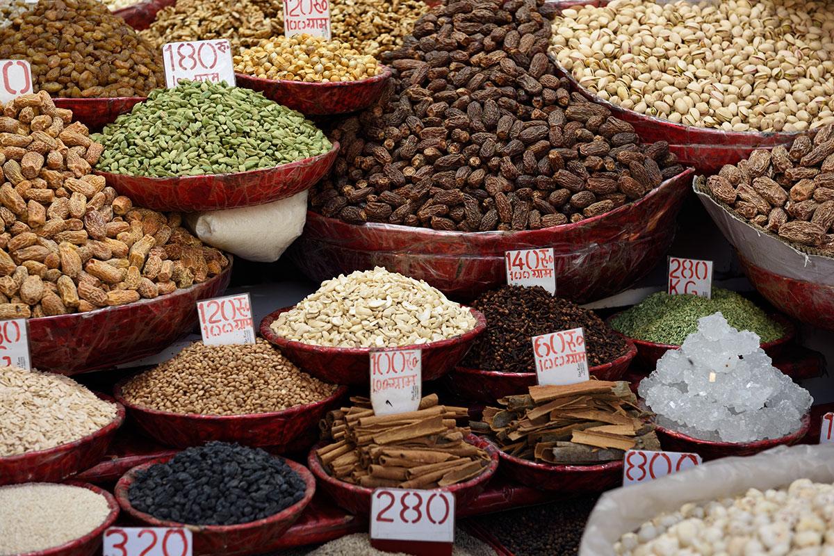 Khari Baoli - the Spice Market in Delhi, New Delhi, India