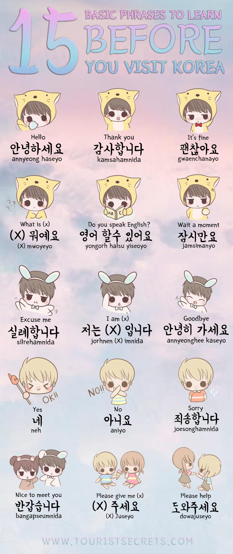 15 Basic Korean Phrases