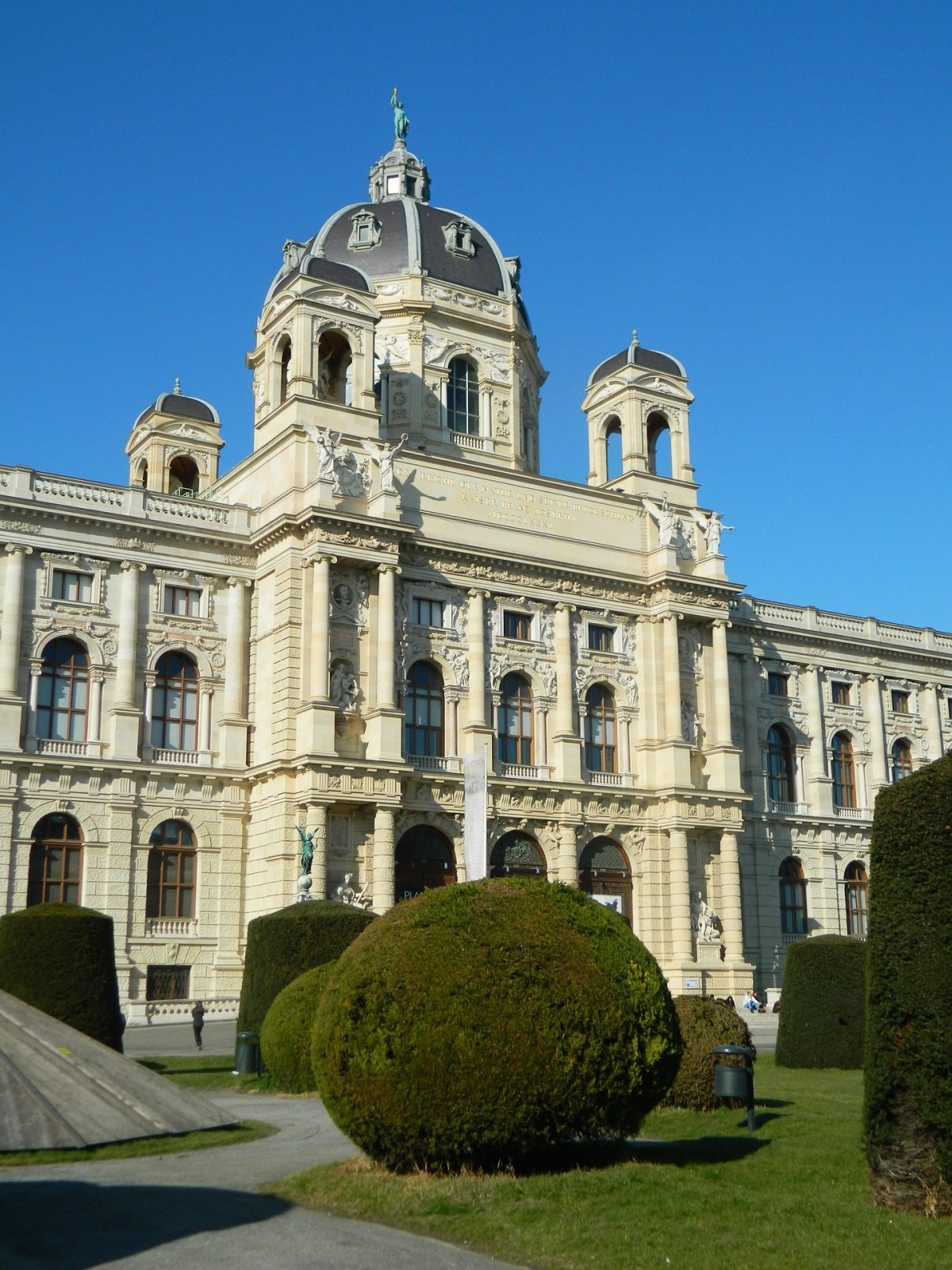 There are endless rooms to explore at Vienna National History Museum with dinosaur skeletons, precious stones and meteorites