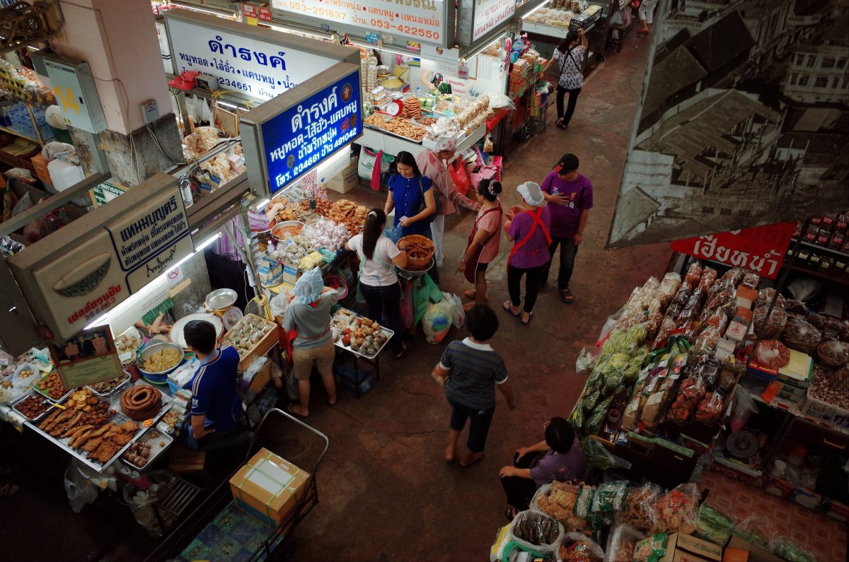 Traditional Warorot Market in Chiang Mai, Thailand