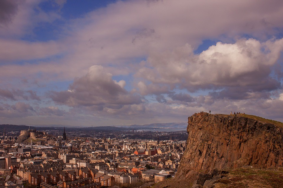 Edinburgh's Arthur's Seat's spectacular landscape offers panoramic views of the city as well as being an excellent sunrise/sunset spot