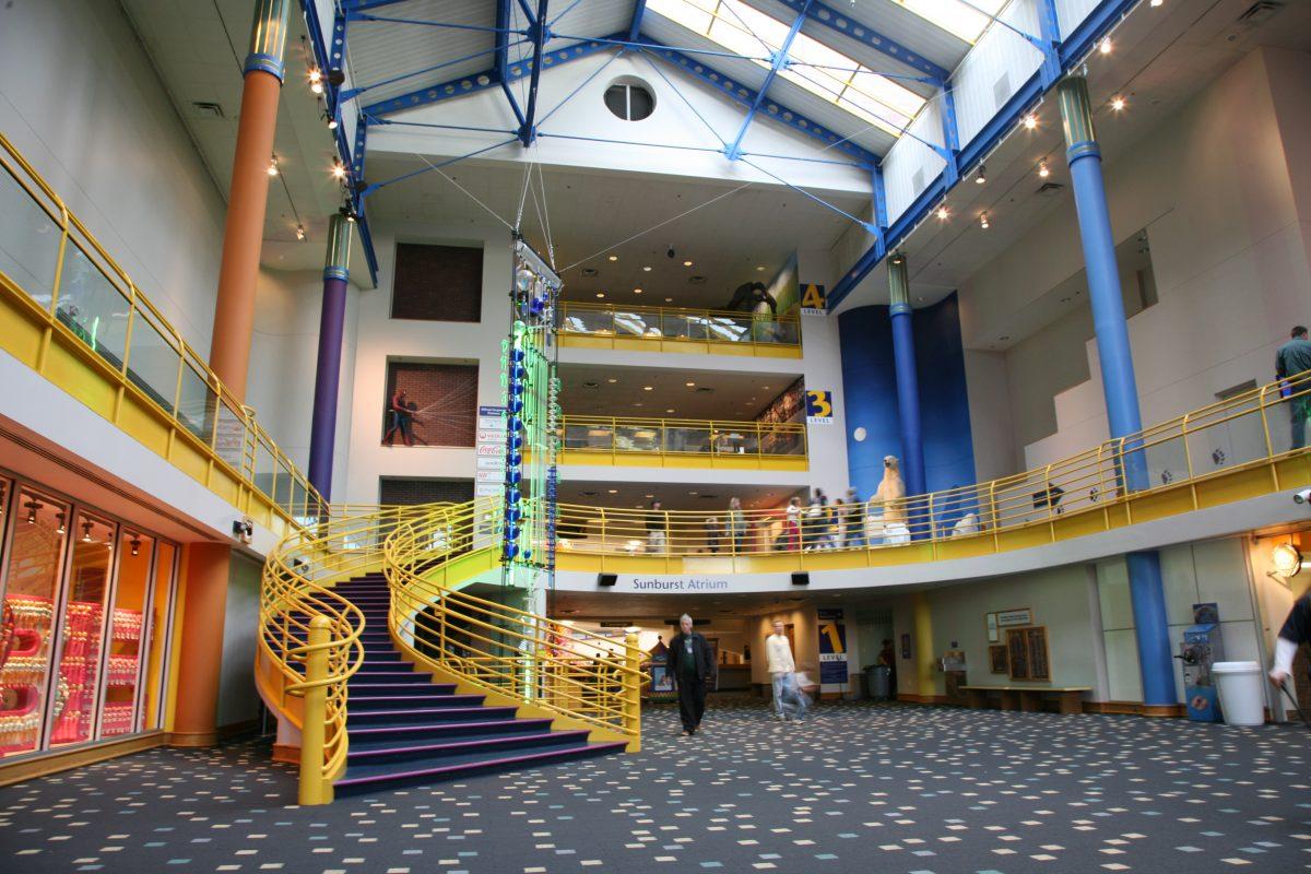 The atrium at Children's Museum of Indianapolis