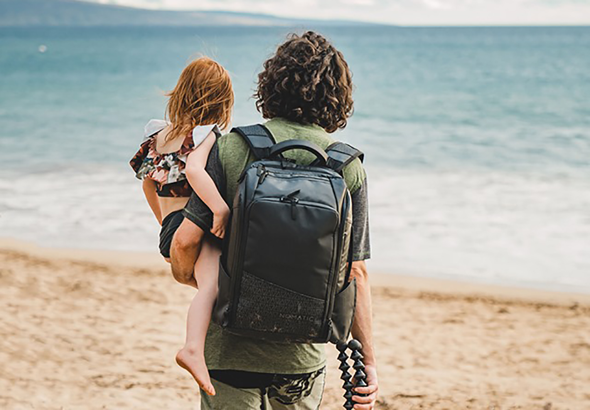 Exploring by the beach