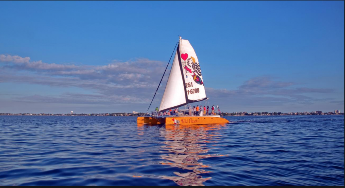 Take in the gorgeous views of Orange Beach by sailing on the Gulf in a 53-foot open-ocean catamaran