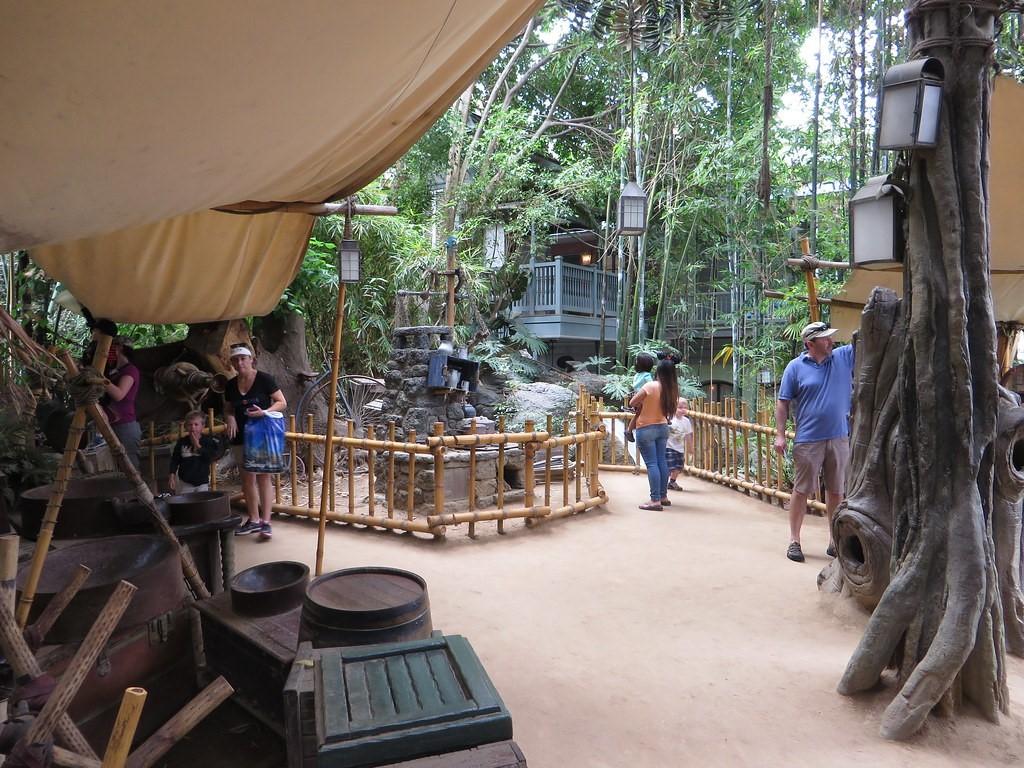 Tarzan's Tree House in Adventureland, Hong Kong Disneyland.