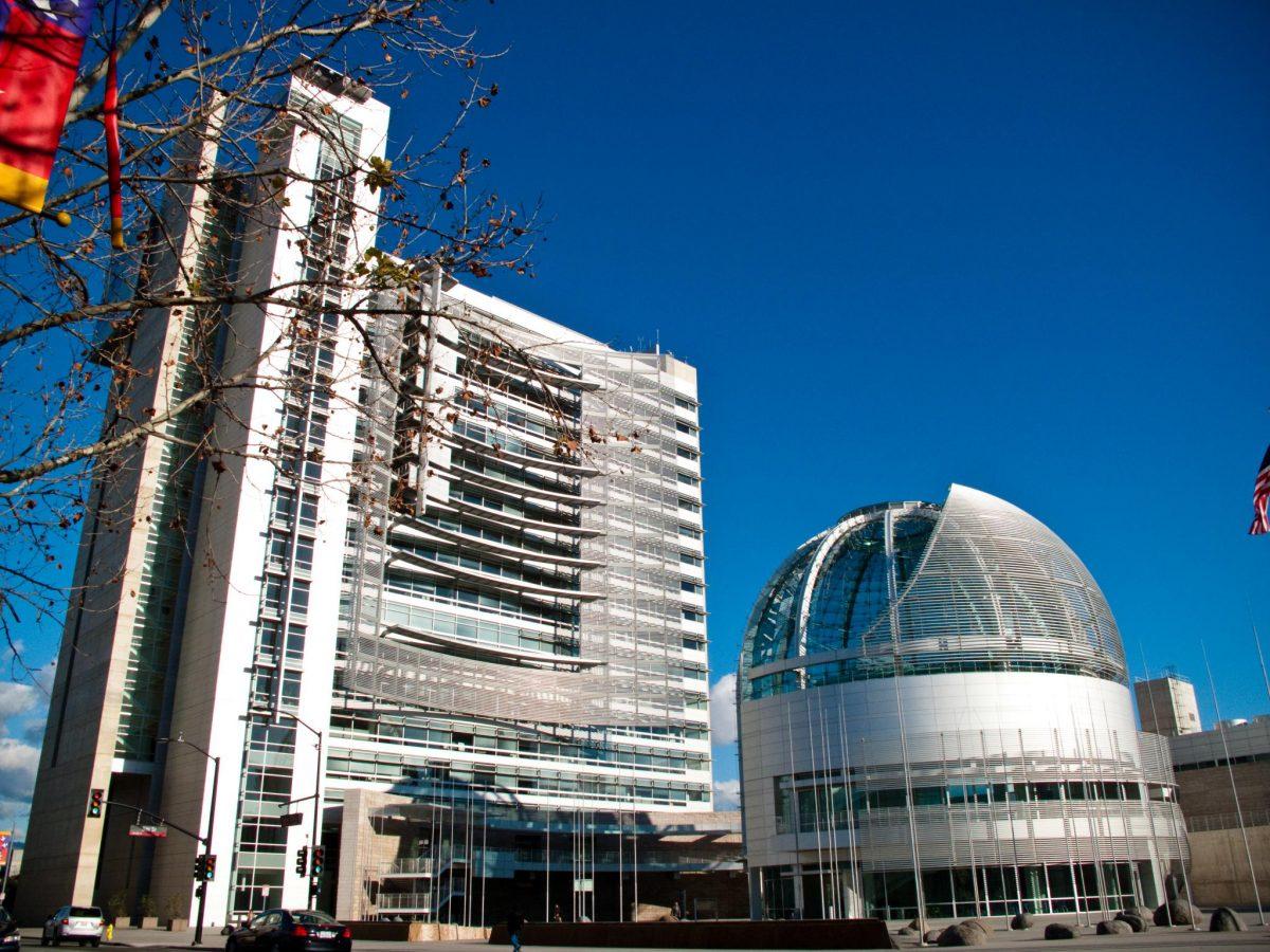 The Sun shines over San Jose City Hall