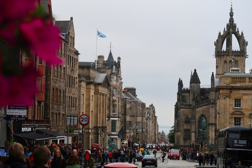 Edinburgh's Royal Mile, a major tourist attraction, is a glorious mix of restaurants, pubs and shops