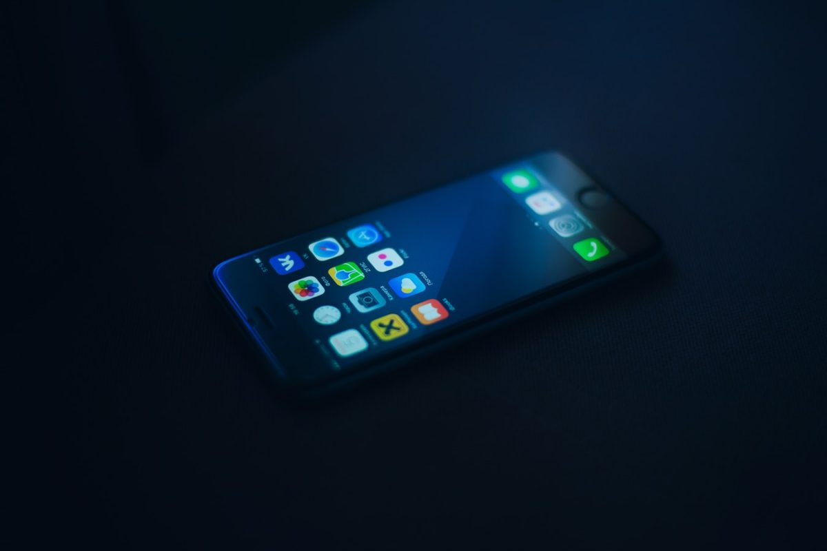Blue light emitted by phones