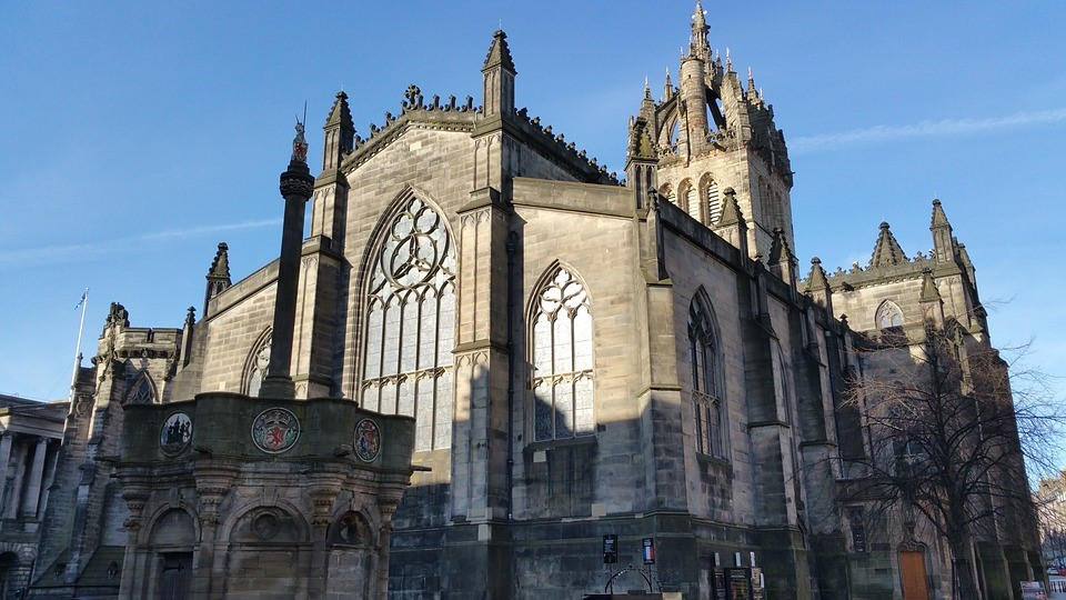 St Giles Cathedral in Edinburgh is the principal place of worship for centuries