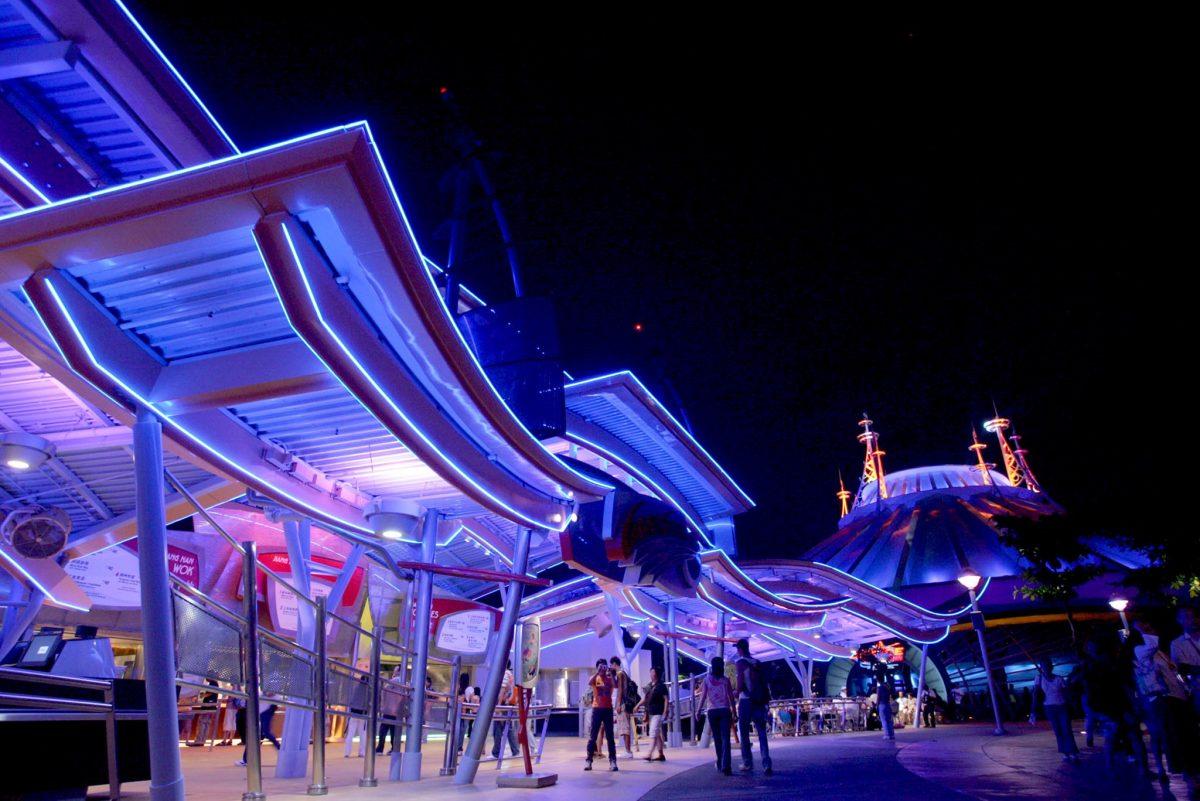 Space Mountain at Tomorrowland, Hong Kong Disneyland.