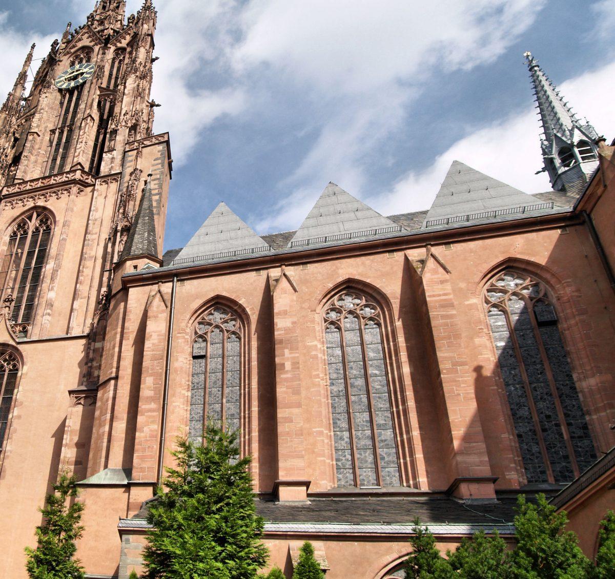 Frankfurt Cathedral in central Frankfurt