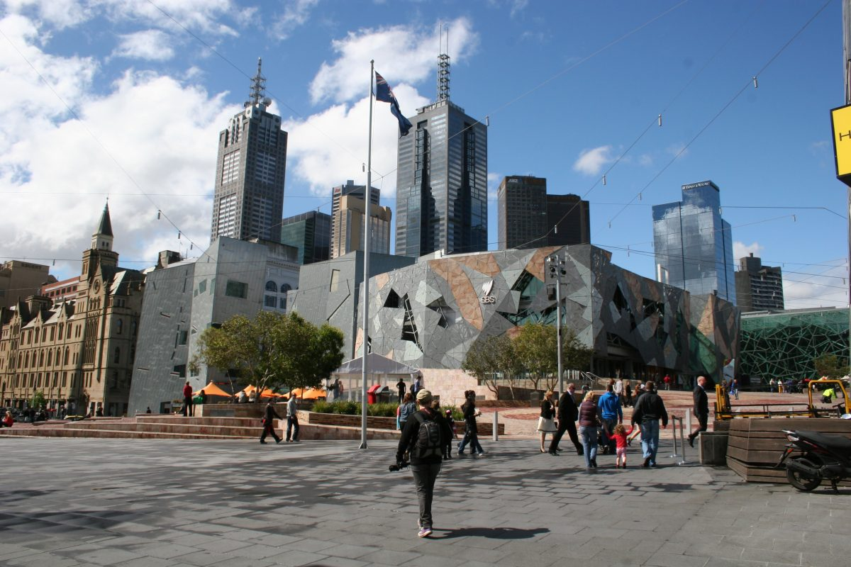 Modern architecture at Federation square, Melbourne