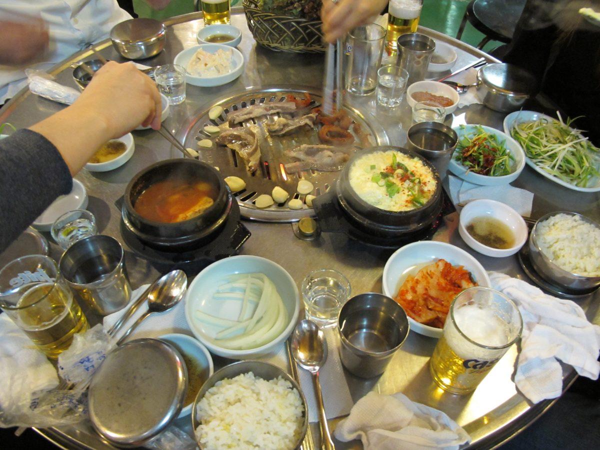 Korean BBQ in Los Angeles, USA