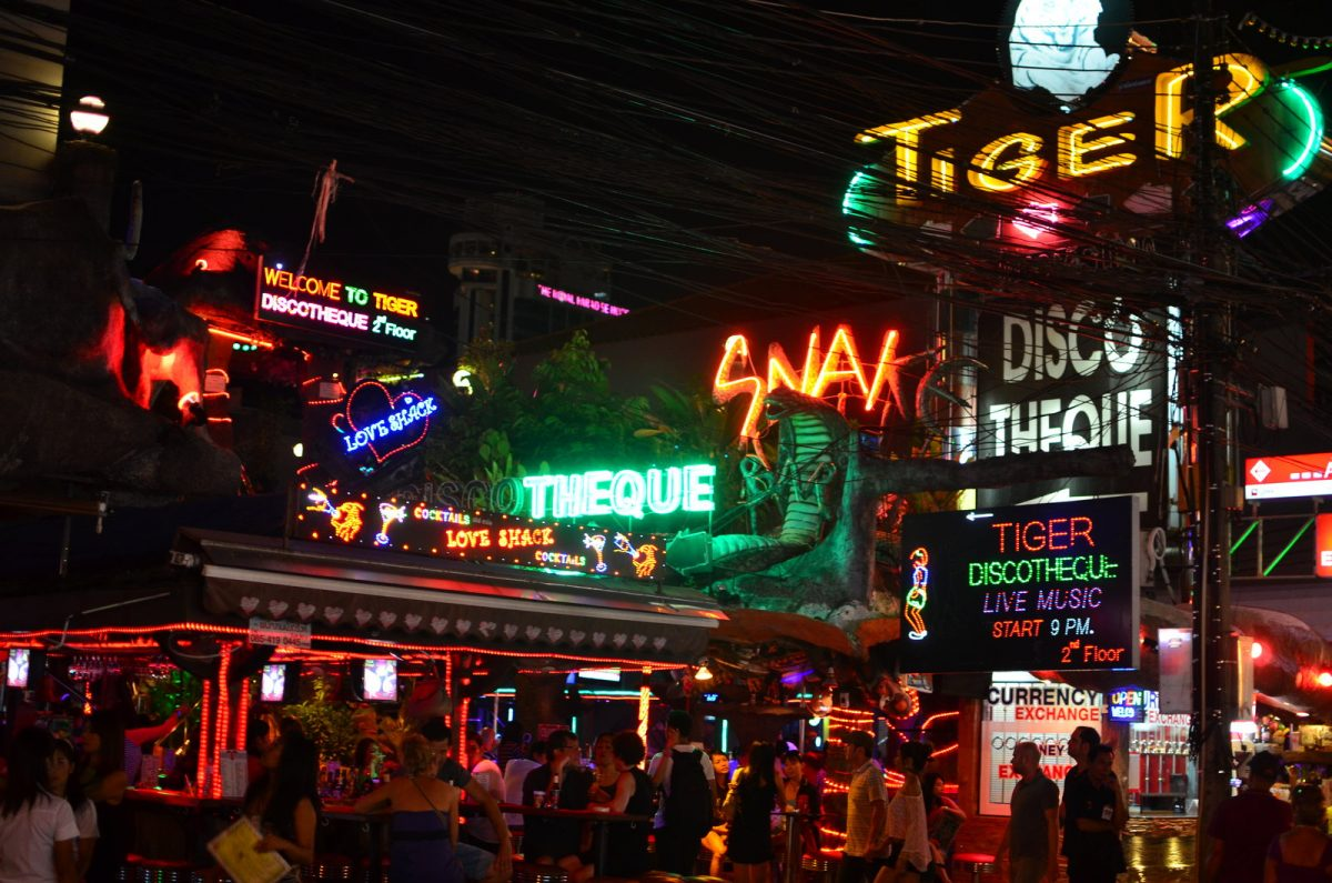 Bangla Road at night in Phuket
