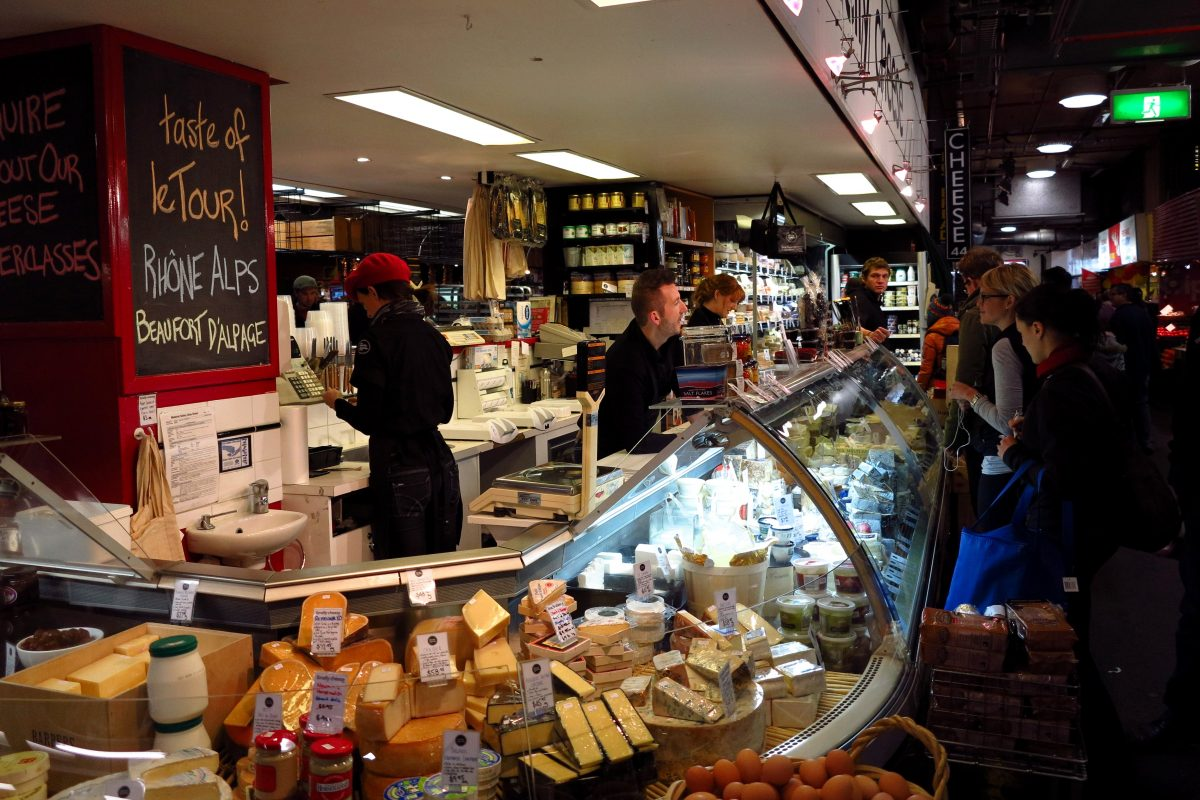 Cheese shop at Adelaide Central Market