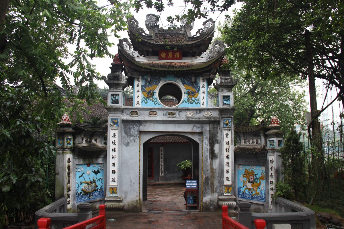 Traditional outlook of Ngoc Son Temple Hanoi