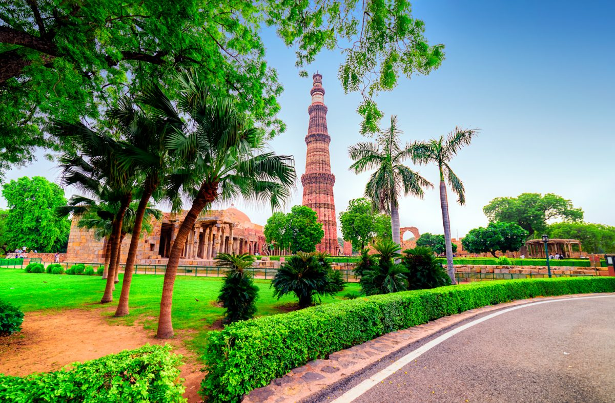 Beautiful evening blues at Qutub Minar - Top 22 Things to Do in New Delhi, India