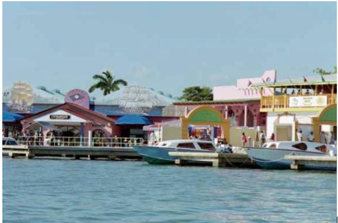 Colourful and vibrant, the Belize Tourism Village is awash with souvenir shops, bars and restaurants