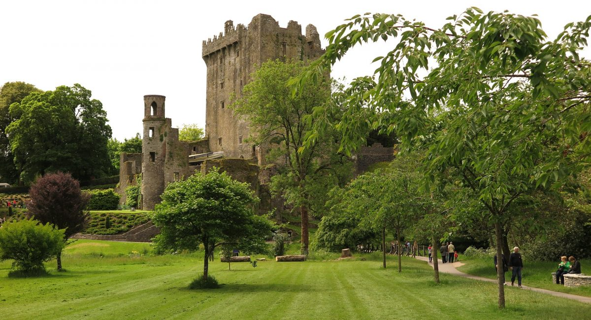 The view of Blarney Castle in Ireland