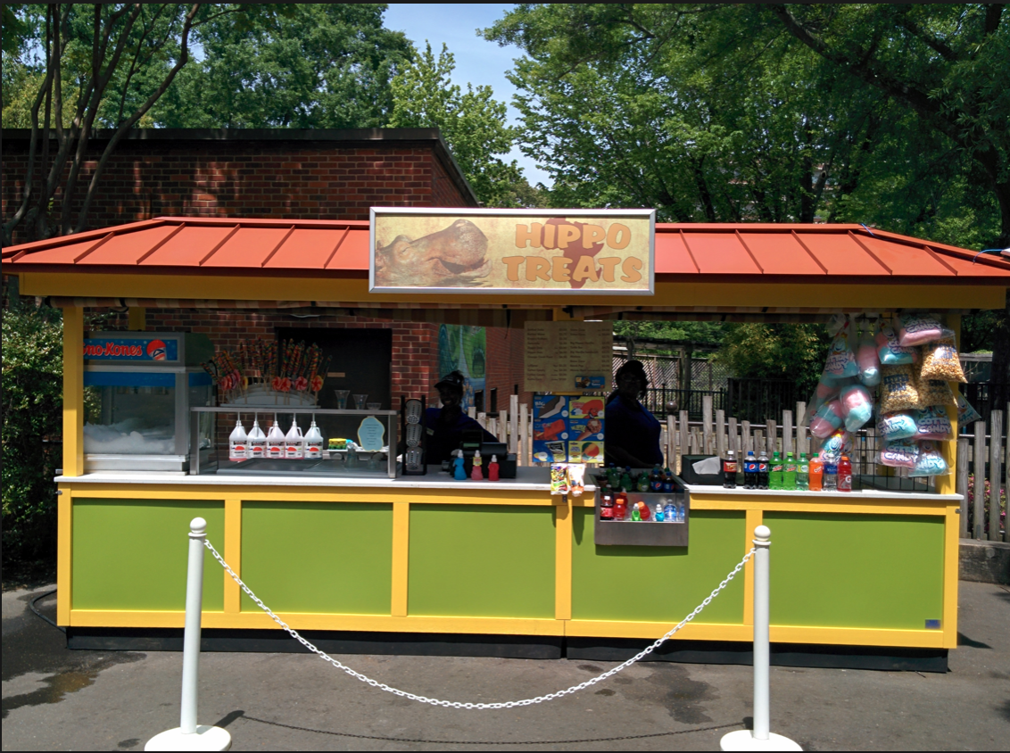 Offering snacks and ice cold drinks, the carts and kiosks are perfect to grab a quick bite to eat during your day of fun