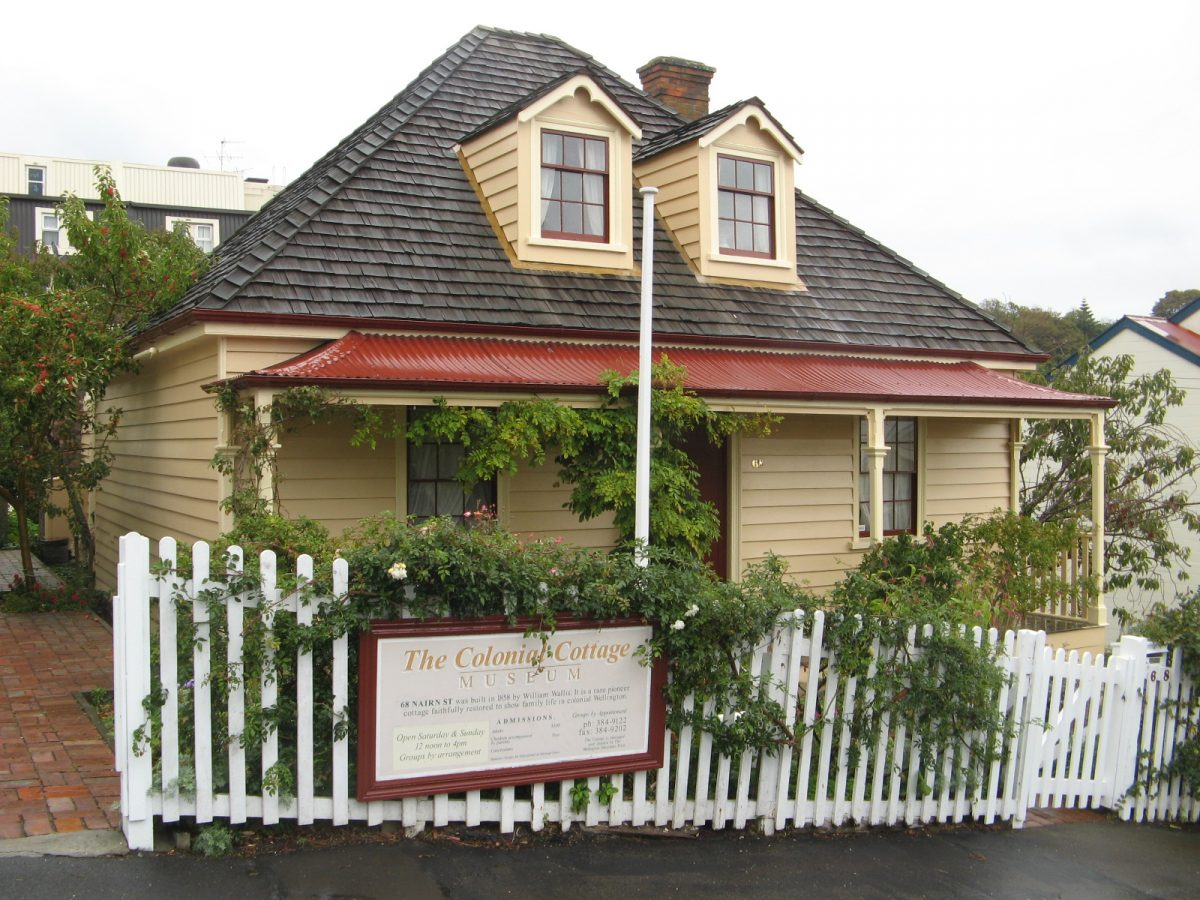 Entrance to the Colonial Cottage Museum, Wellington's oldest building