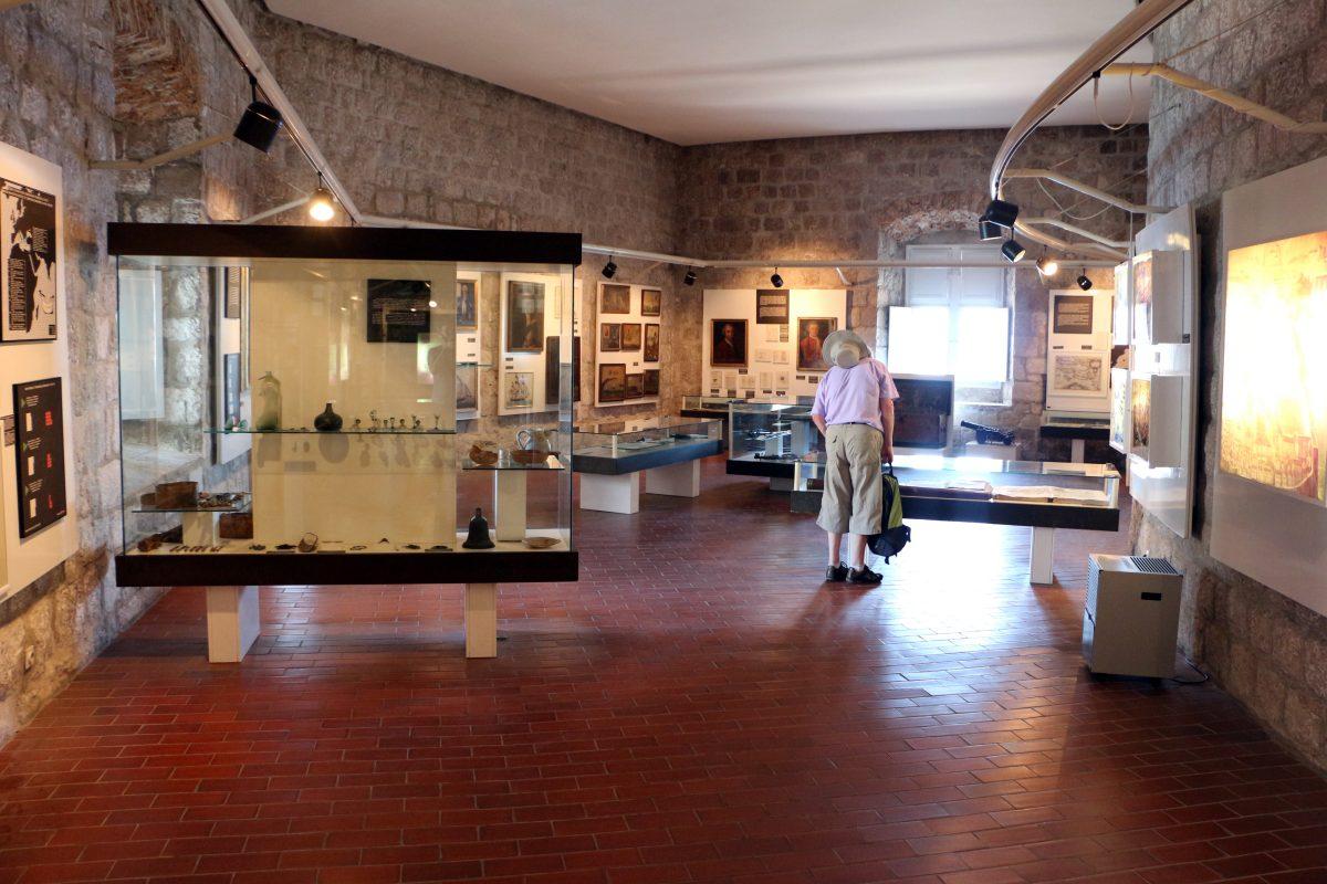 Interior displays of Maritime Museum Dubrovnik