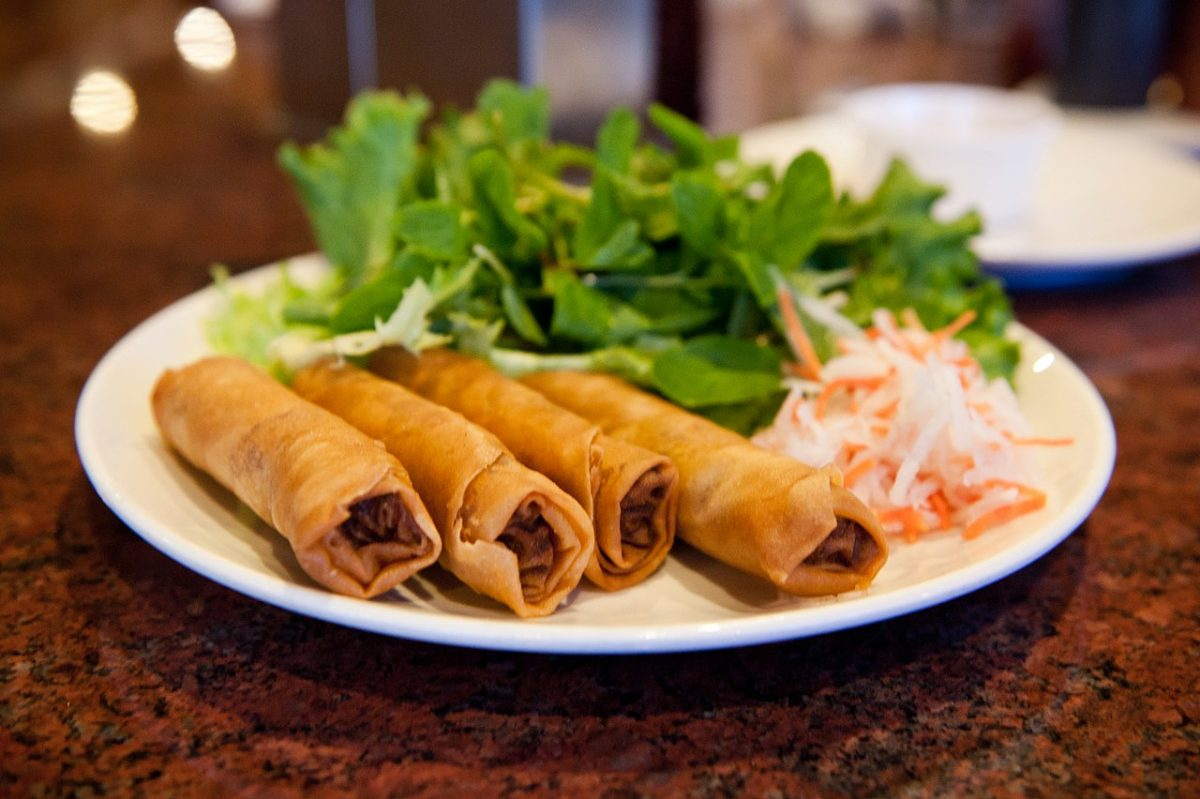 While traditional Chinese spring rolls have a thin and crispy skin that easily flakes apart, the American-Chinese egg roll is thicker and chewier