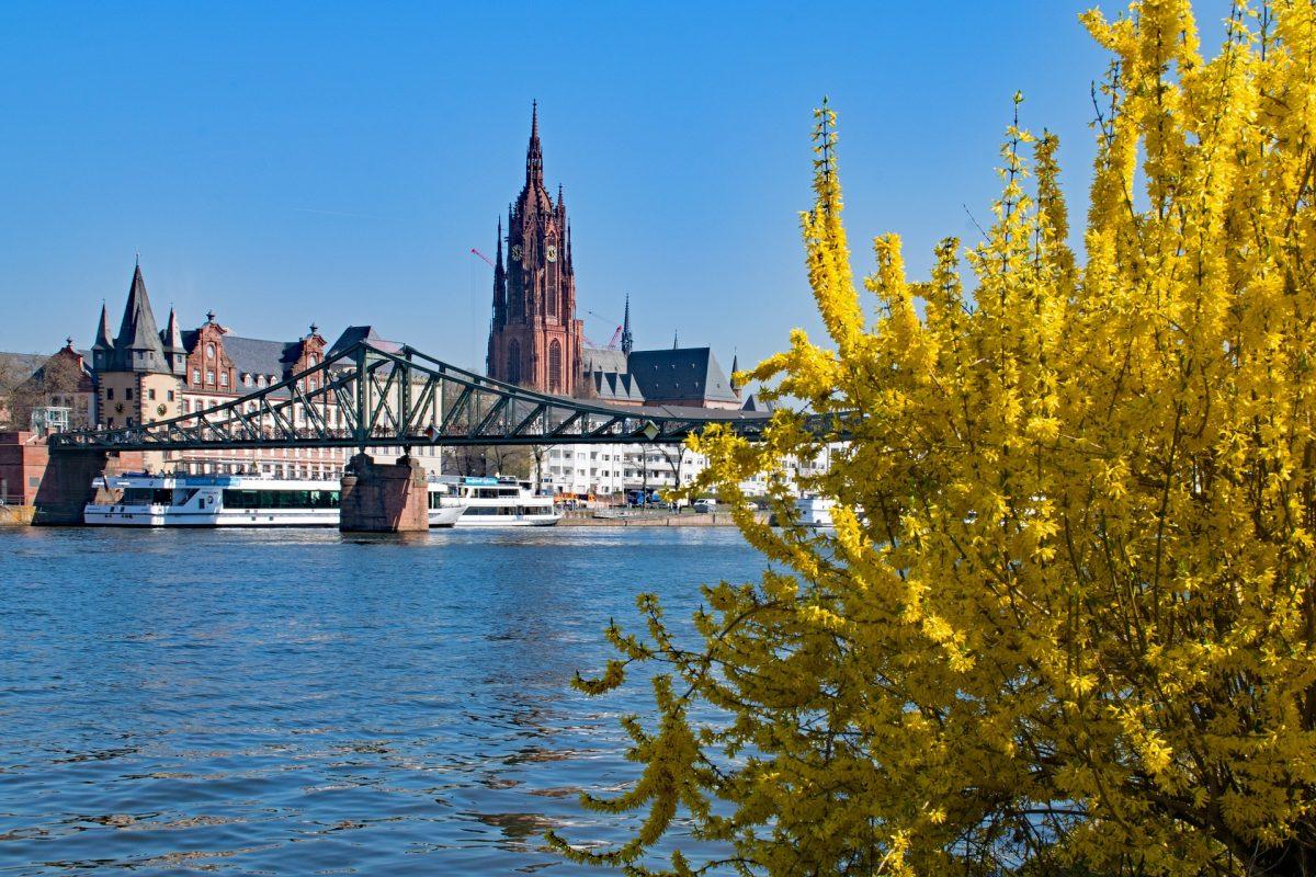 Footbridge in Frankfurt, Germany