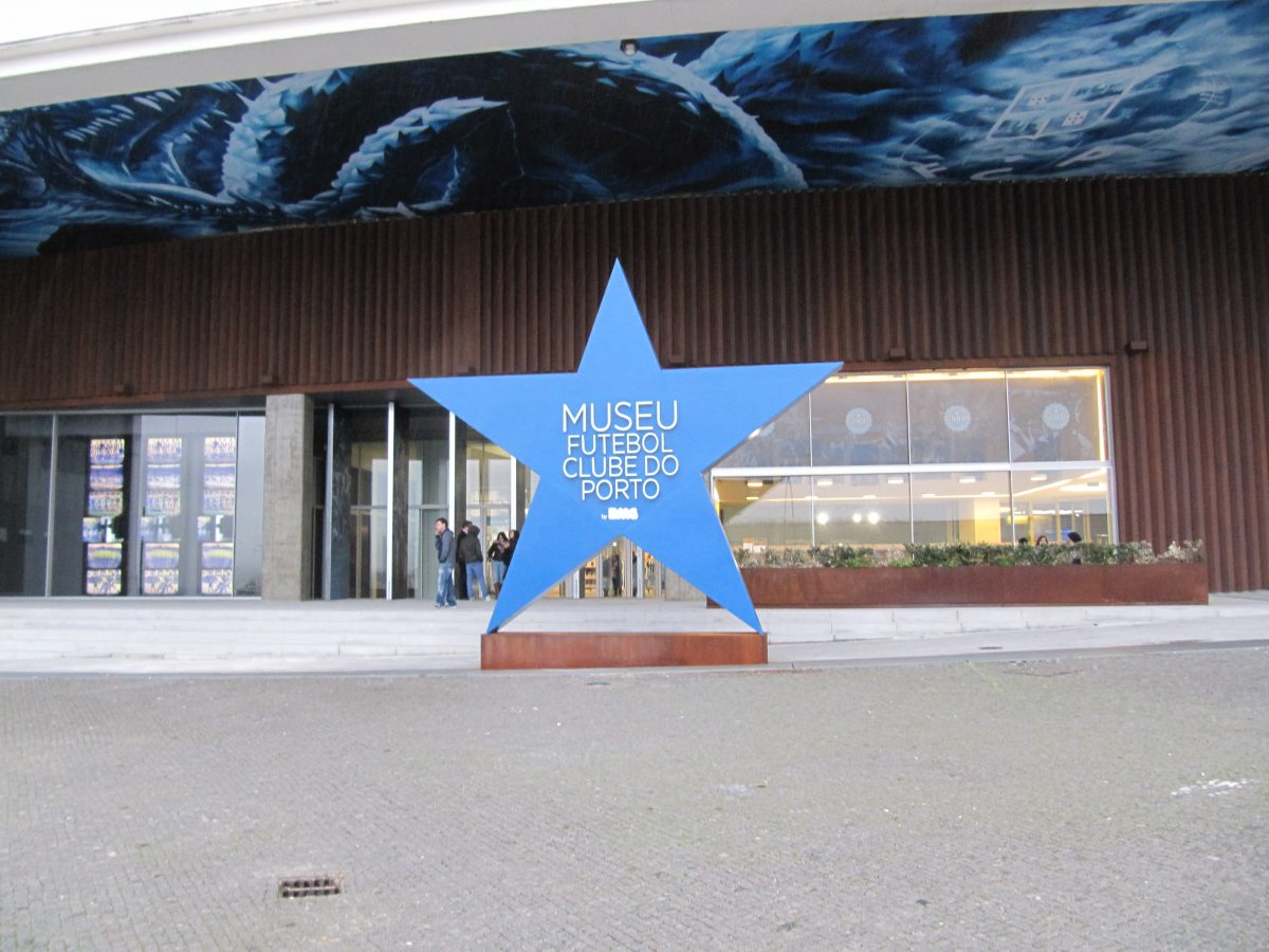 Main entrance of the FC Porto Museum, home to original memorabilia depicting the achievements of Porto's football club