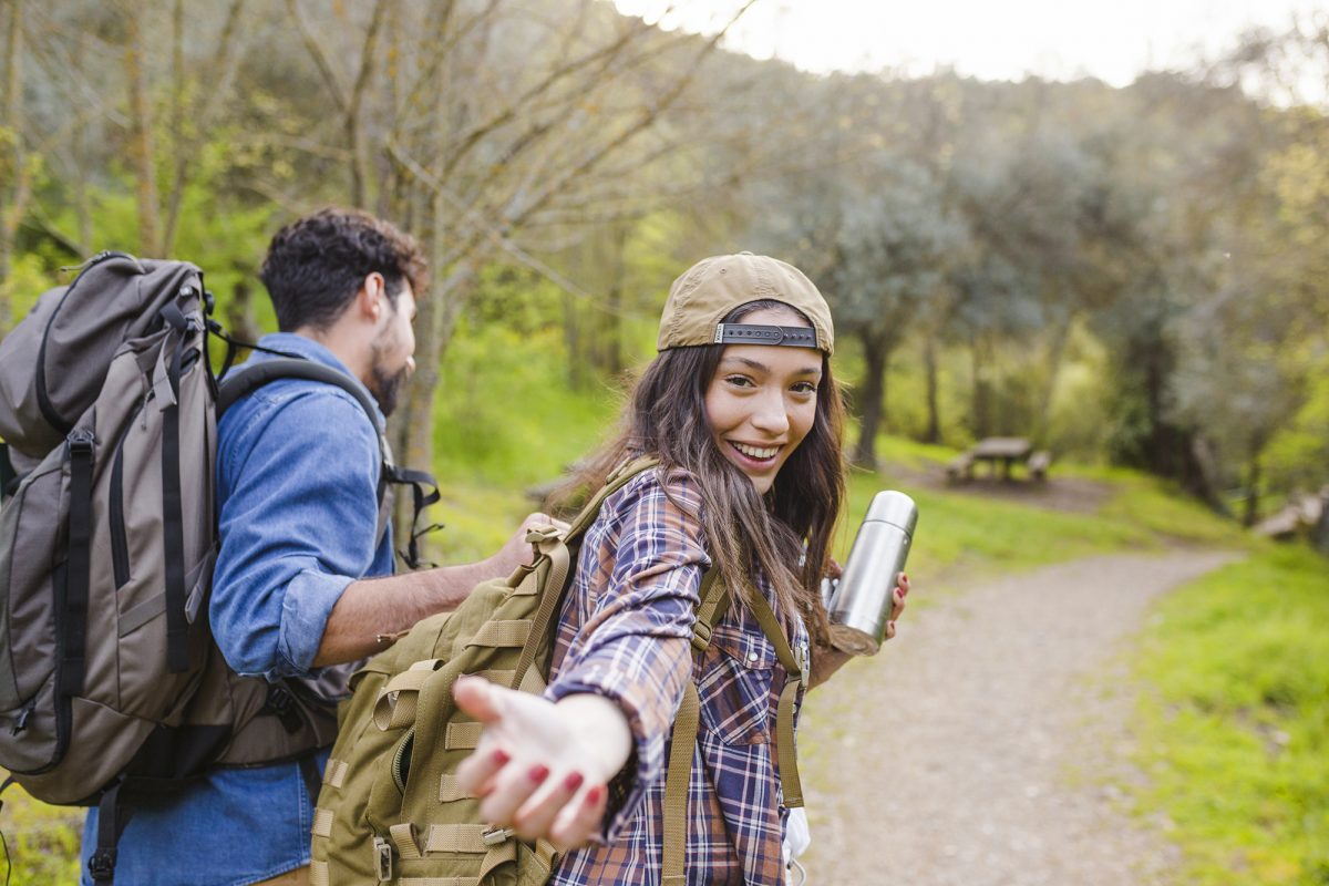 Backpacking fun on travels