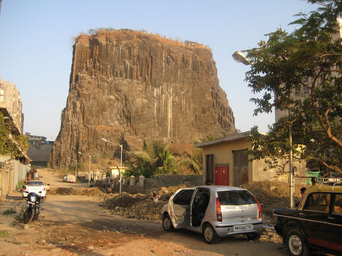 Entrance to Gilbert Hill, an intriguing yet majestic natural formation in Mumbai