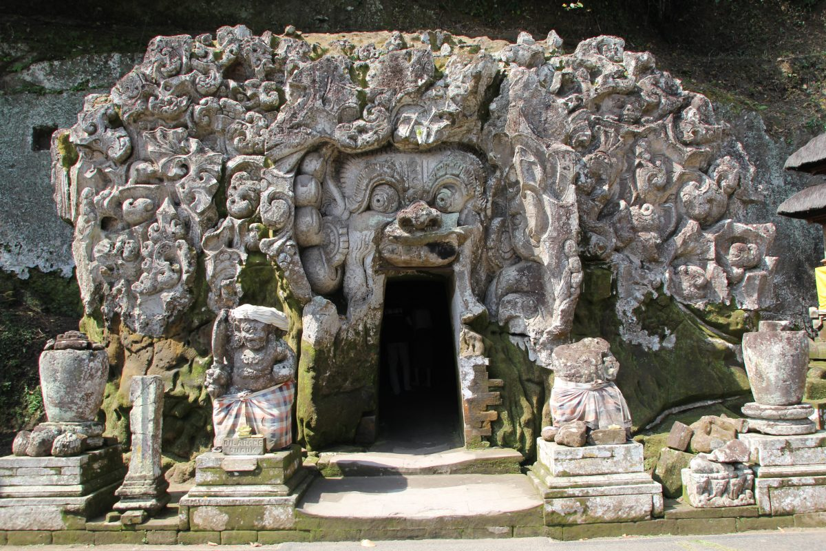 Front entrance of Goa Gajah