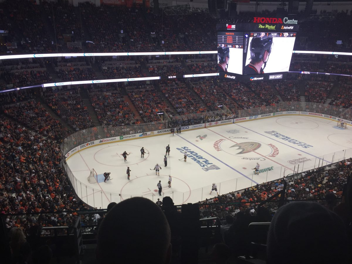 Home of the Anaheim Ducks professional hockey team, the Honda Center is also a popular indoor arena for concerts