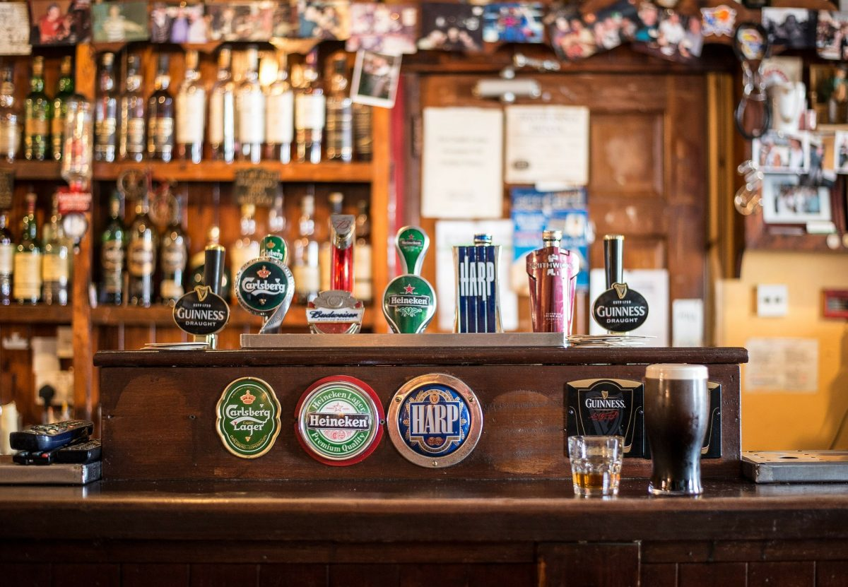 Raise a toast inside an Irish Pub