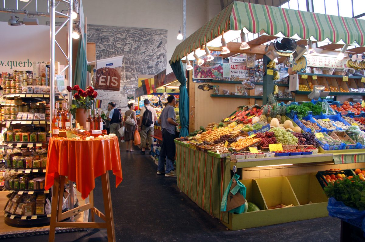 Market hall in Frankfurt