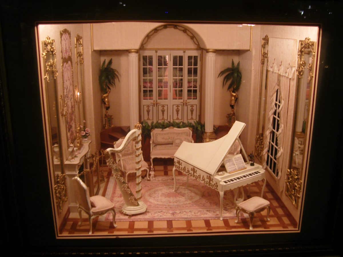 One of the many miniature exhibits at the Miniatures Museum of Taipei