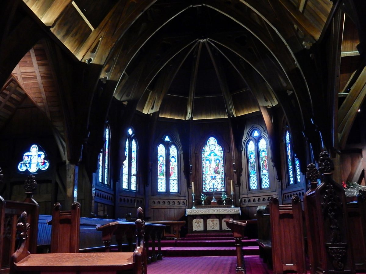 Interior of Wellington's Old St. Paul's Cathedral, an extremely important heritage landmark in Wellington