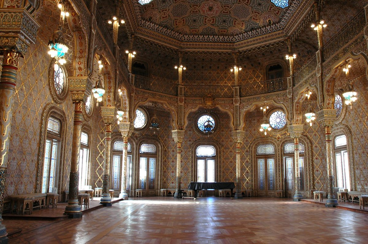 The interior of the famous Arab Room in Porto's Palacio da Bolsa that was used as a reception room for important delegates