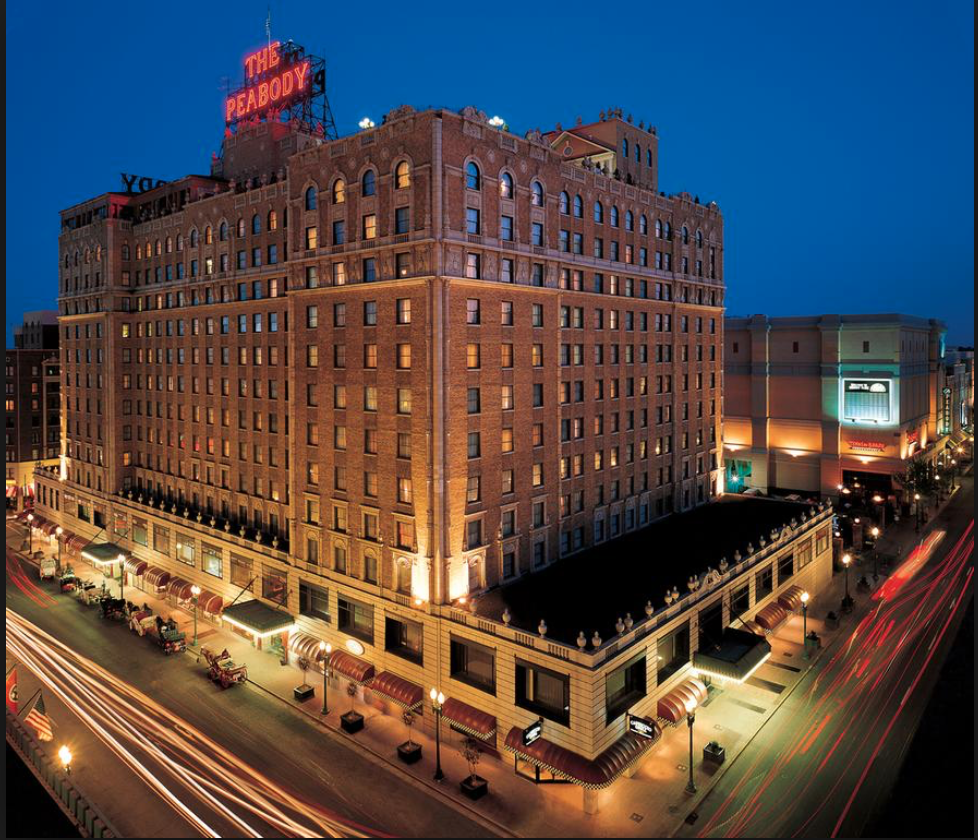 Known as the 'South's Grand Hotel', the esteemed and luxurious Peabody Hotel is a stylish and sophisticated four-star haven in Downtown Memphis