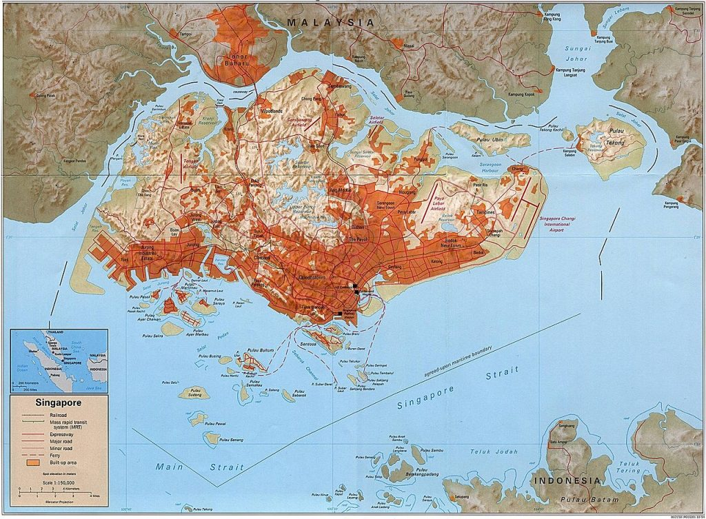 Singapore Map, Where Is Singapore