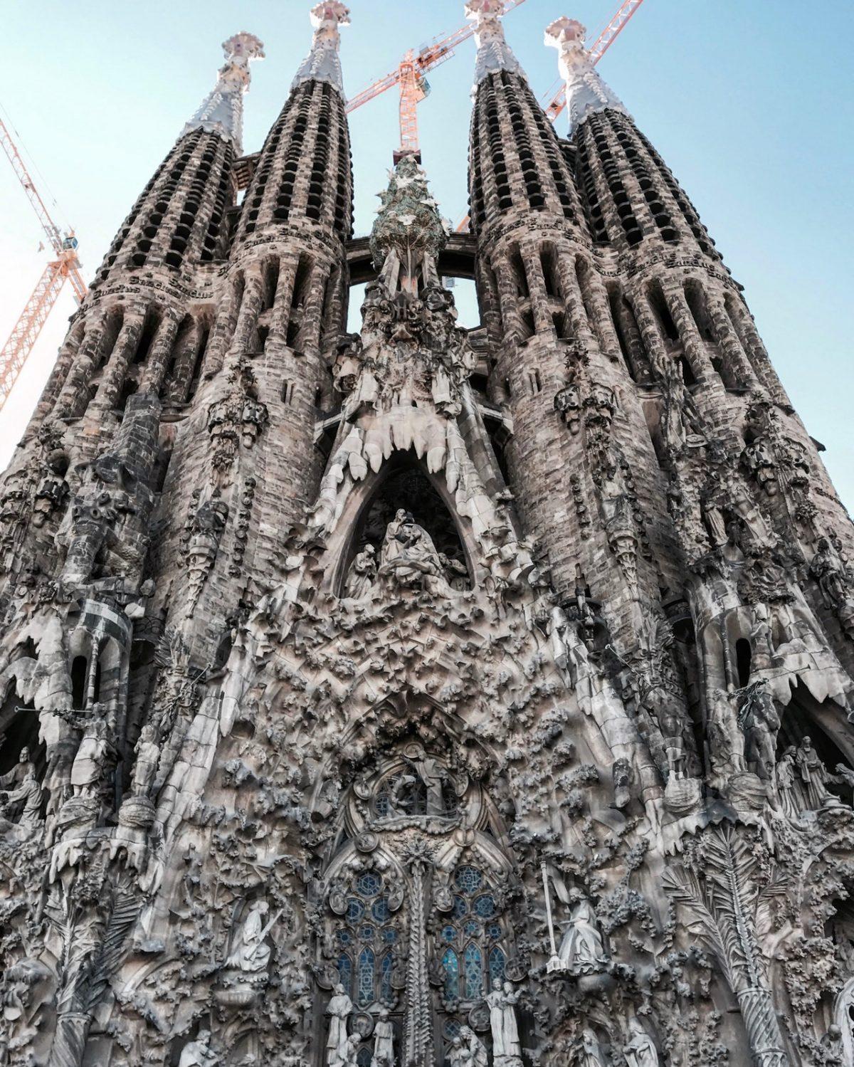 Majestic image of the church, Sagrada Familia