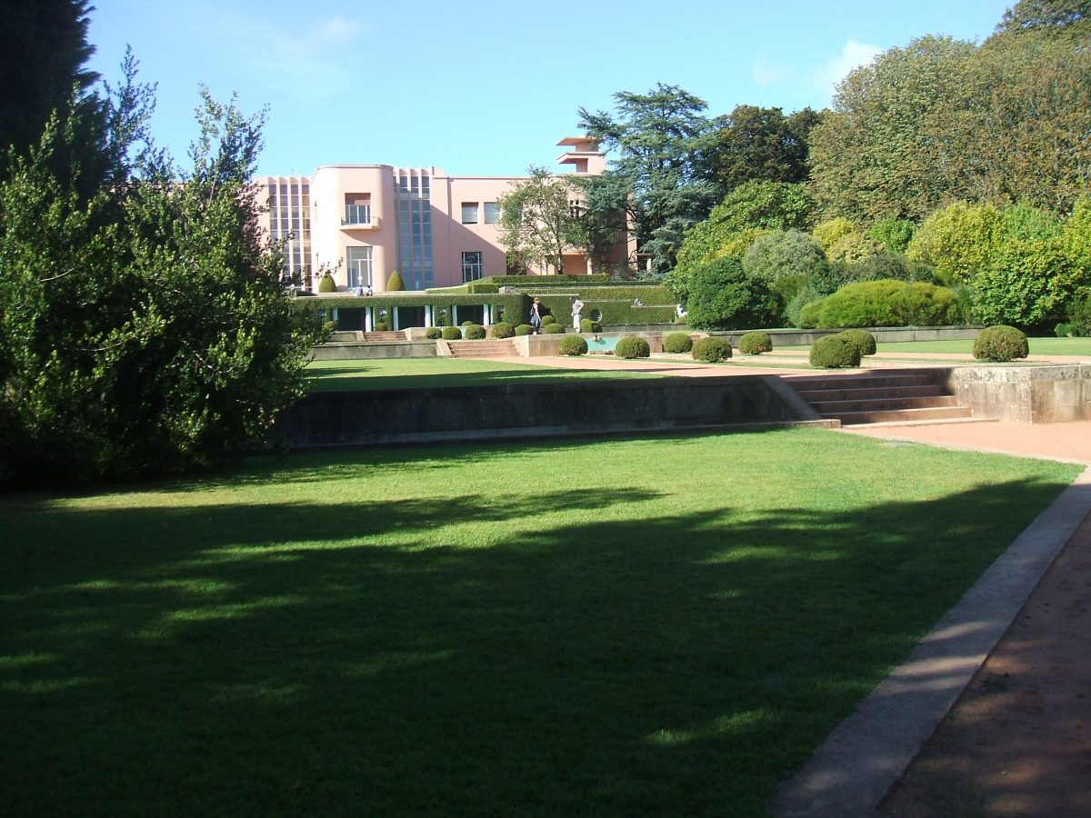 View from the ornamental garden of the Serralves Foundation, an organisation dedicated to showcasing works from contemporary artists