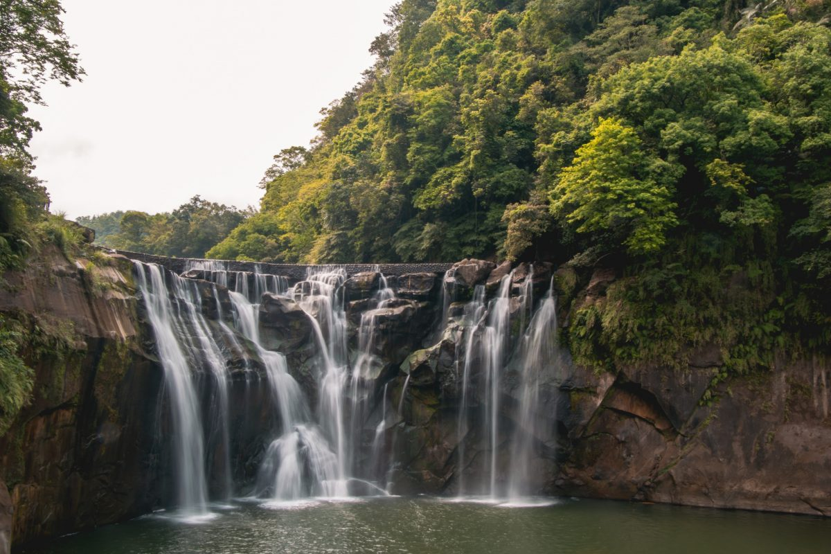 Bridge view of the Shifen Waterfall, arguably Taipei's most majestic scenic spot