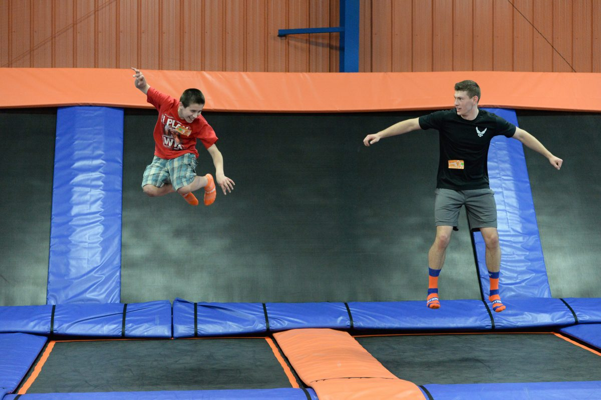 The world's first indoor trampoline park, take part in a healthy yet fun cardio workout at Sky Zone Trampoline Park
