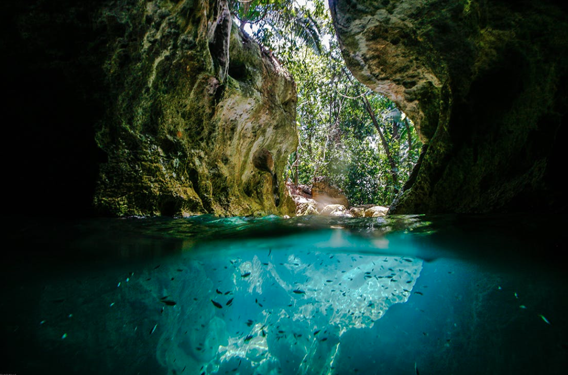 The esoteric and enigmatic caves of St Herman's Blue Hole National Park display the ancient Mayan ceremonial culture