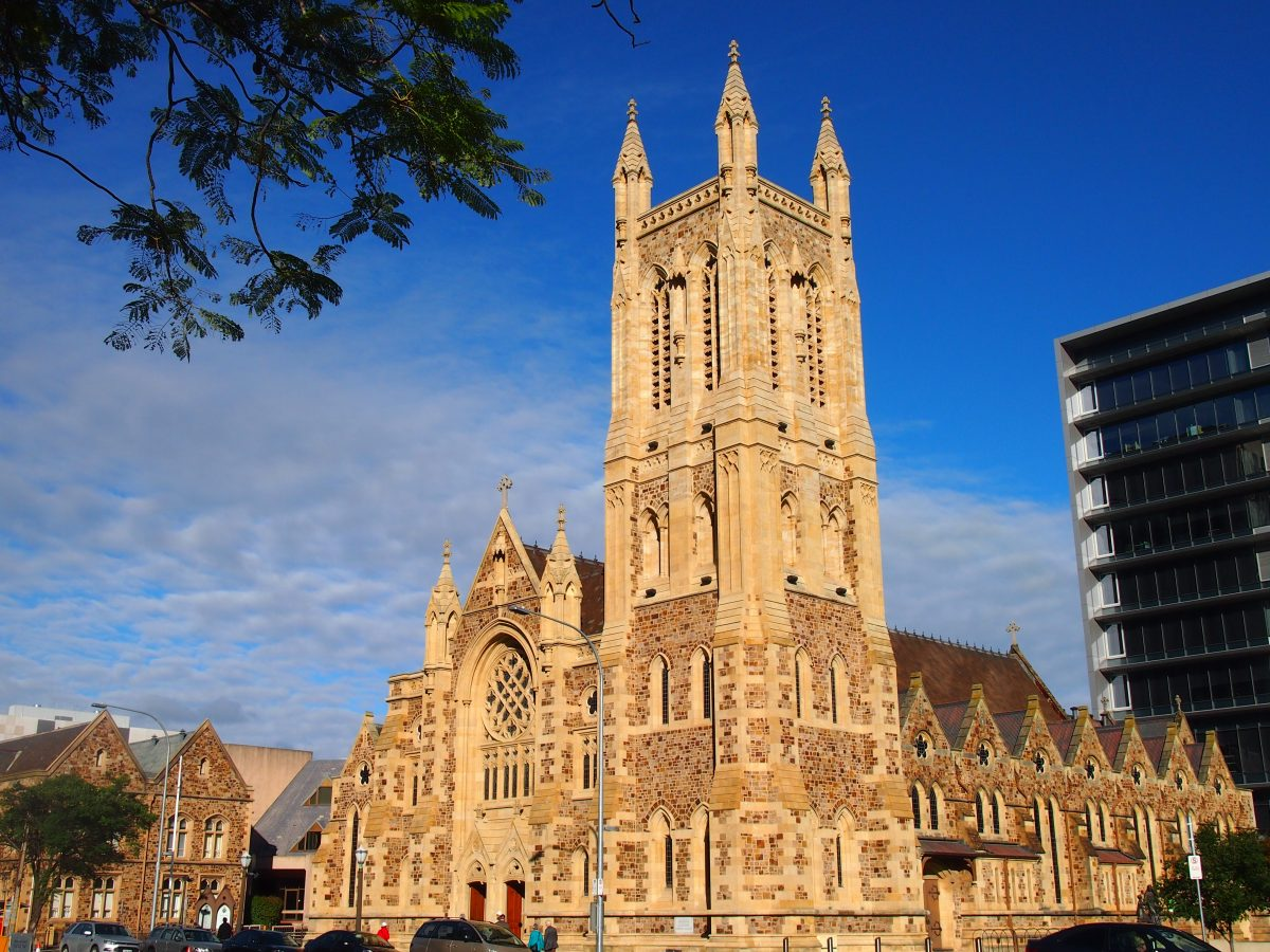 Neo-gothic architecture St Francis Xavier cathedral Adelaide