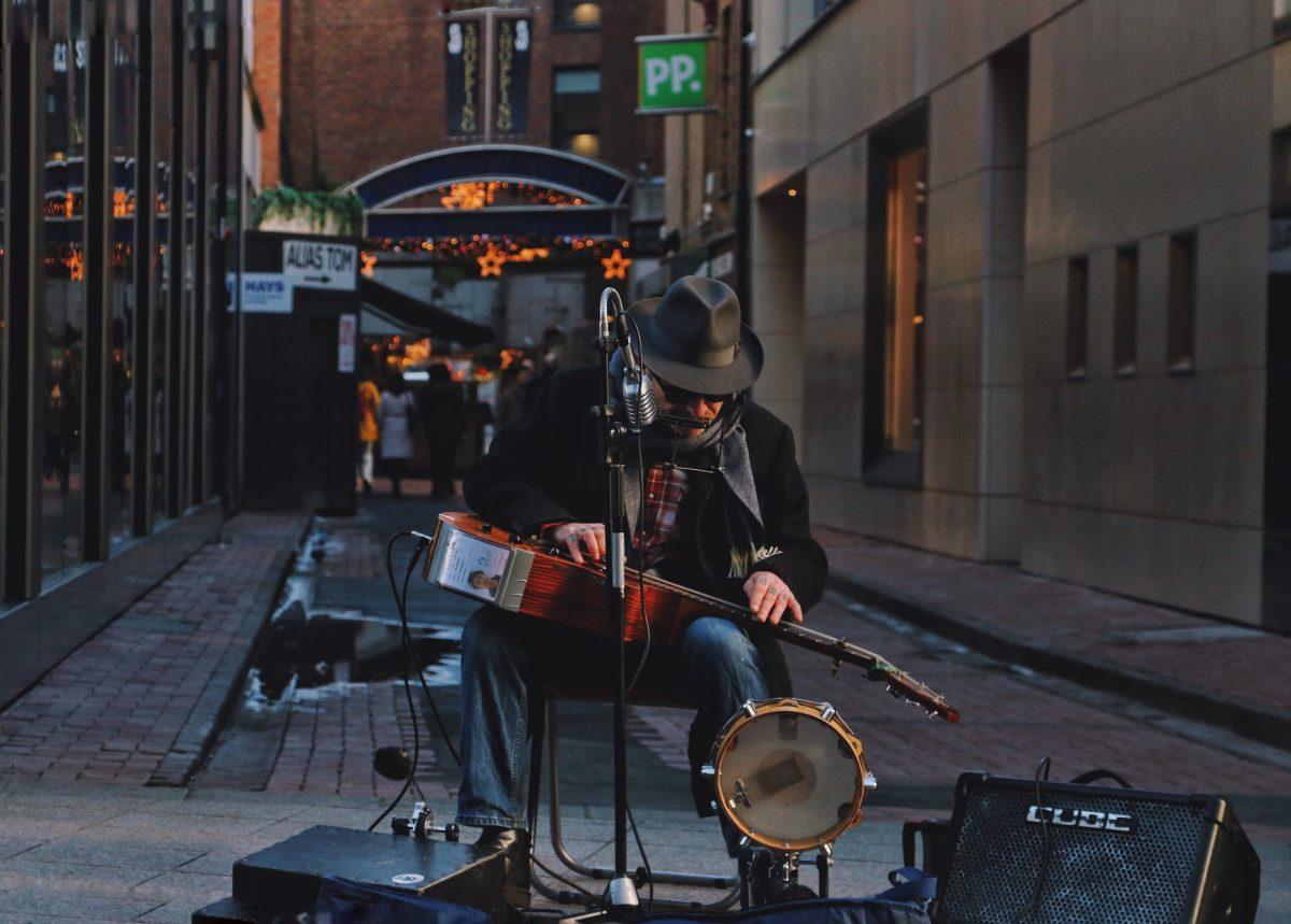 A Street Musician in Dublin