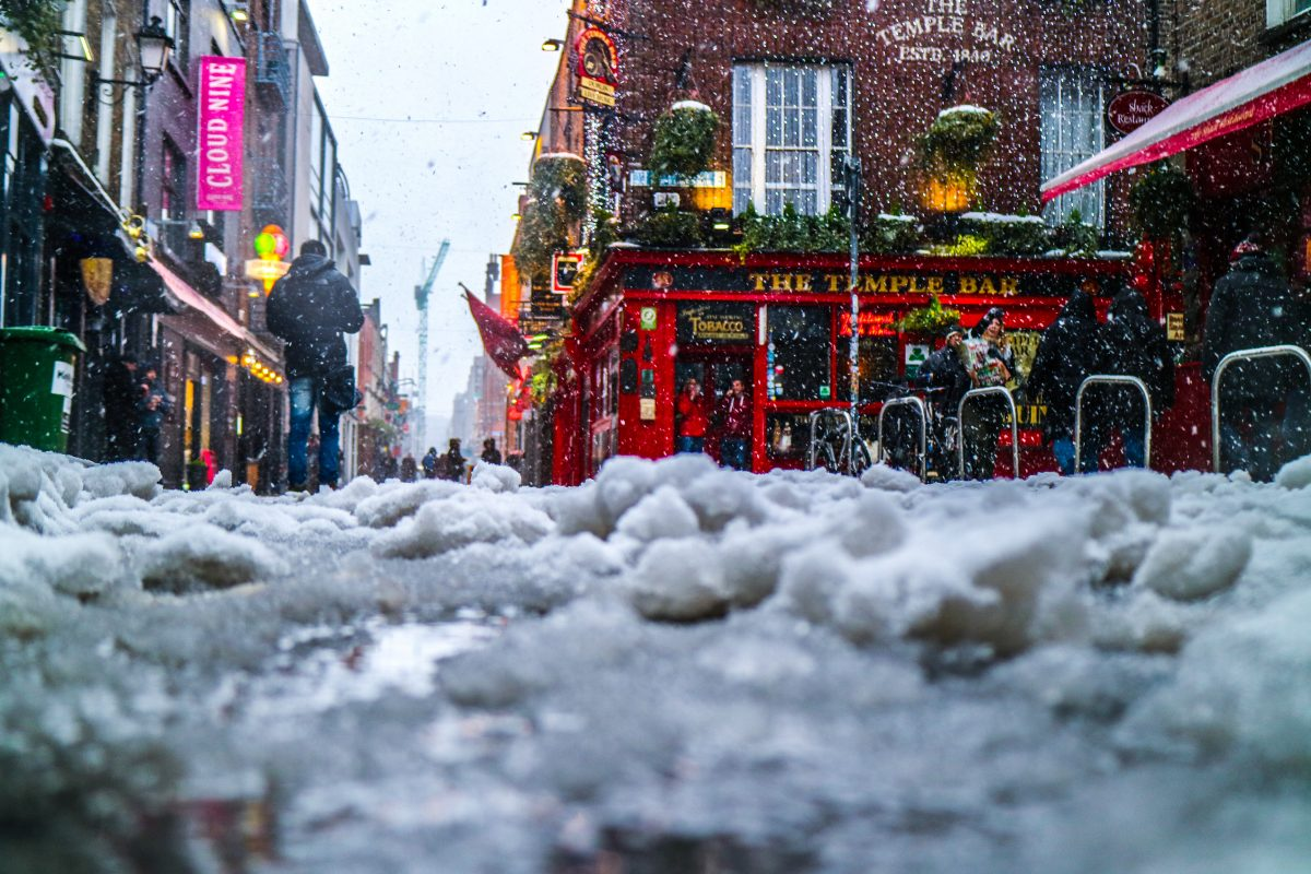Winter at The Temple Bar in Dublin