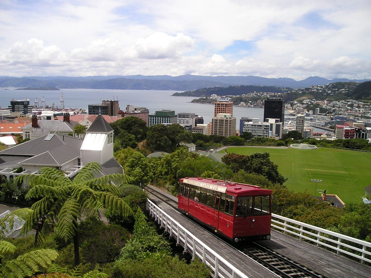 Enjoy a scenic view of Wellington by taking a ride on a Wellington Cable Car