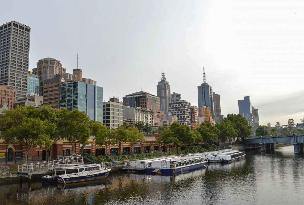 Yarra River Cruising by Melbourne skyscrapers